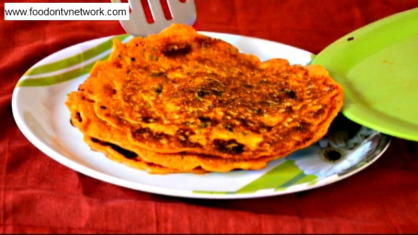 Besan Pudla Step 3-2. How to make Besan Pudla Recipe in Hindi.
